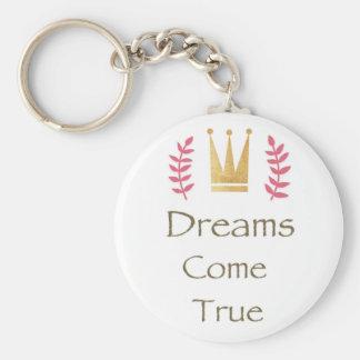 Dream Collection Basic Round Button Keychain
