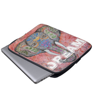Dream Colorful Elephant Art Laptop Sleeve