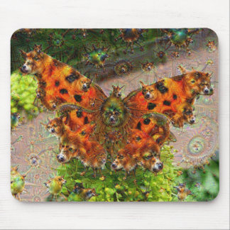 Dream Creatures, Butterfly, DeepDream Mouse Pad