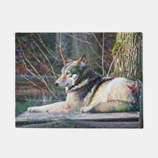 Dream Creatures, Wolf DeepDream Doormat