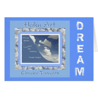 Dream Customizable Haiku Greeting Card