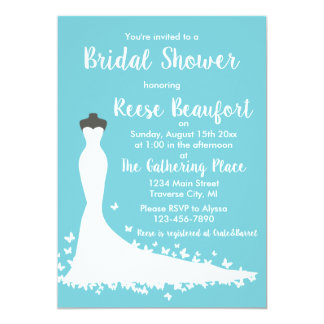 Dream Dress Bridal Shower Invitation