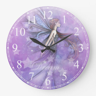 Dream Fairy in the Stars Large Clock