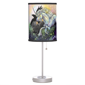 Dream Gaurdians with E. Dickinson Poem Table Lamp