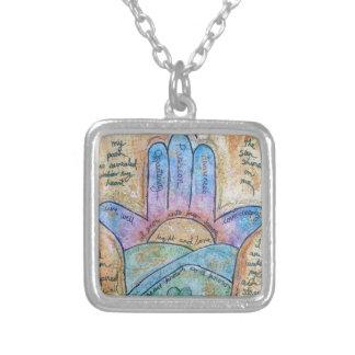 Dream Hamsa Silver Plated Necklace