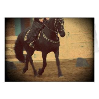 Dream Horse Friesian Dressage Greeting Card