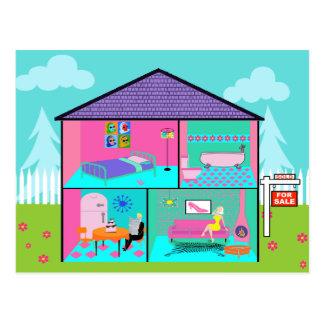 Dream House Real Estate Agent Postcard