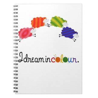Dream in Colour Knitting or Crochet Projects Spiral Notebook