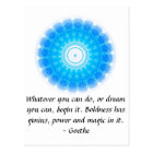 Dream Inspirational Quote GOETHE Postcard