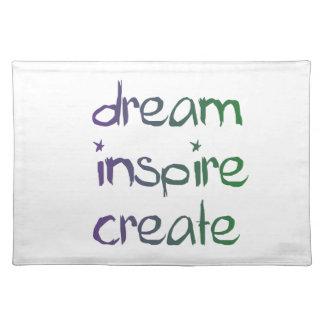 Dream, Inspire, Create Placemat