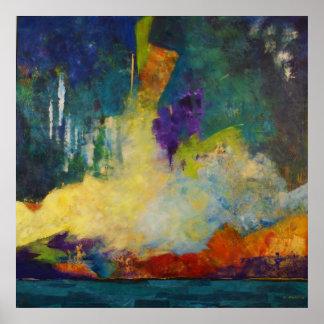 Dream Island Abstract Art Poster, SkyLake Poster