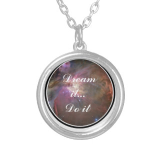 Dream it, Do it - Space Silver Plated Necklace