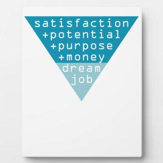 dream job formula plaque
