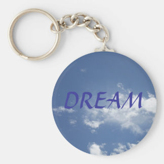 DREAM KEY CHAIN ON SKY BACKGROUND