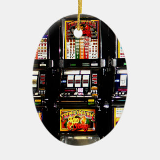 Dream Machines - Lucky Slot Machines Ceramic Ornament