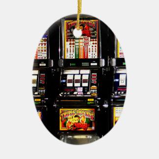 Dream Machines - Lucky Slot Machines Ceramic Ornament