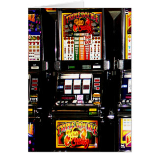 Slot Machines Cards, Slot Machines Greeting Cards, Slot Machines