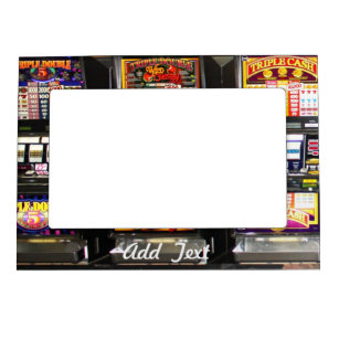 Dream Machines - Lucky Slot Machines Magnetic Picture Frame