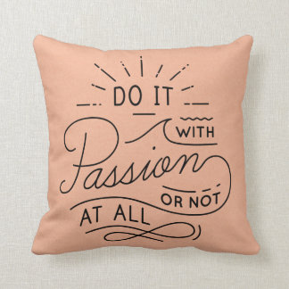 Dream Motivational Quote, Success  Attitude Peach Throw Pillow