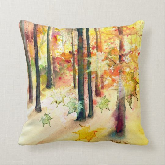 """Dream of Trees"" Square Art Pillow"