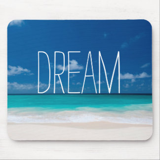 Dream of White Beachs and Blue Skies Mouse Pad