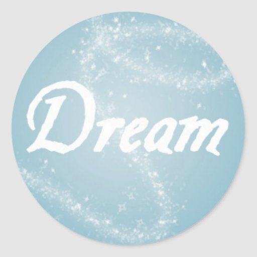 Dream on Blue Stickers