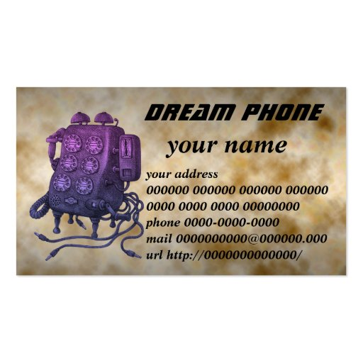 dream phone business card templates
