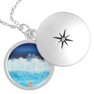 Dream, Plan & Dive © Silver Plated Round Locket