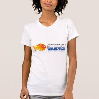Dream, Plan & Dive © - Women's Neck T-Shirt, White T-Shirt