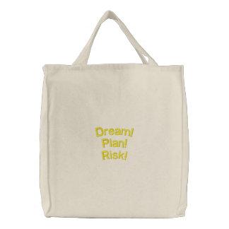 Dream, Plan, Risk Canvas Bag