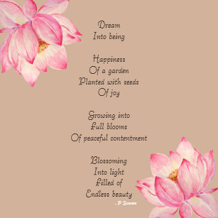 Flower With Poems Art Wall Dcor Zazzle