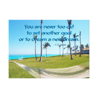 Dream quote and tropical photo canvas print