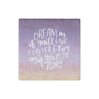 Dream Quote Marble Stone Magnets, Individual Stone Magnets