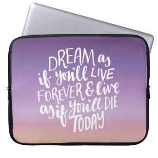 Dream Quote Neoprene Laptop Sleeve 15 inch