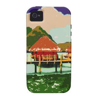 Dream Red Village Cottage iPhone 4 Cases