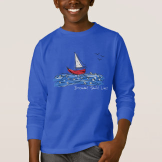 Dream Sail Live Sea Boat Seagull Sketch Sweatshirt