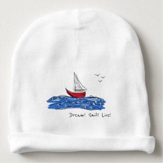 Dream Sail Live Sea Boat Seagulls Baby Beanie