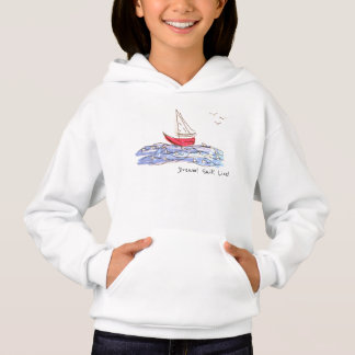 Dream Sail Live Sea Boat Seagulls Sketch Hoodie