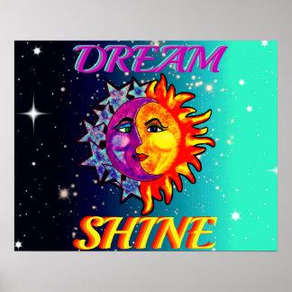 Dream/Shine   Moon Poster