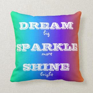 Dream Sparkle Shine Throw Pillow