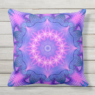 Dream Star Mandala Throw Pillow