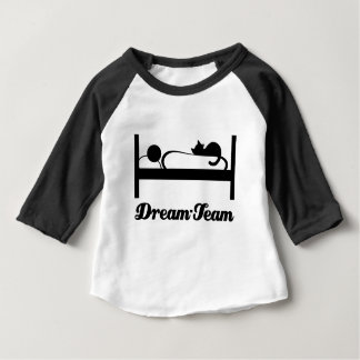 Dream team Sleeping with Cat. Baby T-Shirt
