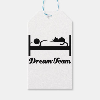 Dream team Sleeping with Cat. Gift Tags