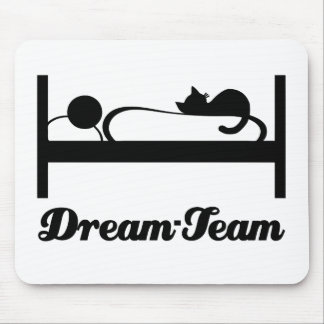 Dream team Sleeping with Cat. Mouse Pad