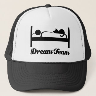 Dream team Sleeping with Cat. Trucker Hat