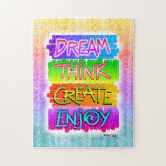 Dream Think Create Enjoy Inspirational Puzzle