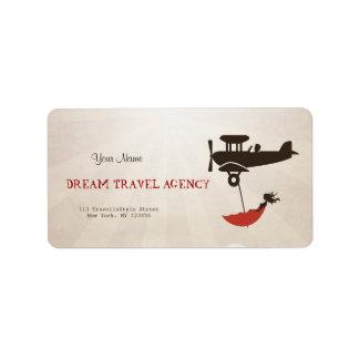 Dream Travel Agency Label