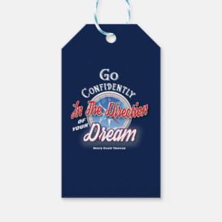 Dream Typography Inspirational Pack Of Gift Tags
