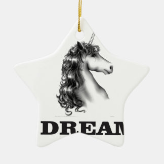 dream unicornf ceramic star ornament
