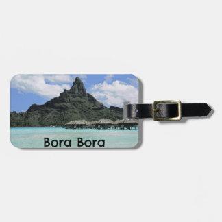 Dream Vacation Bora Bora Tahiti Atoll Formation Luggage Tag
